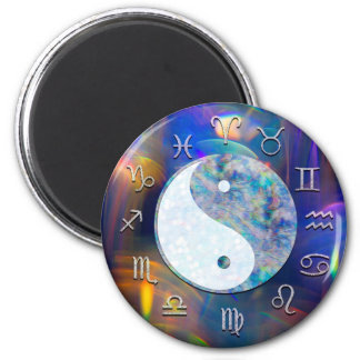 Cosmic Galaxy Zodiac Astrology Yin Yang Magnet