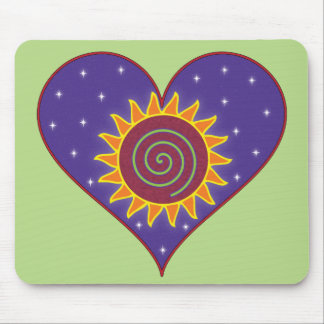 Cosmic Heart Mouse Pad - Green