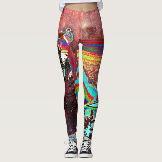 Cosmic Herring-gull, Turquoise Battleship Leggings