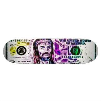 Cosmic Jesus Airbrush Fractal Deck Custom Skateboard