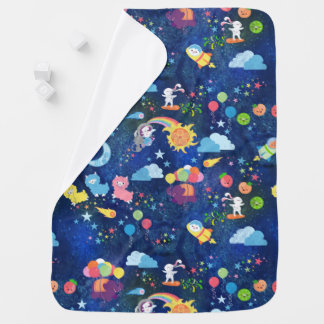 Cosmic Kawaii Baby Blanket