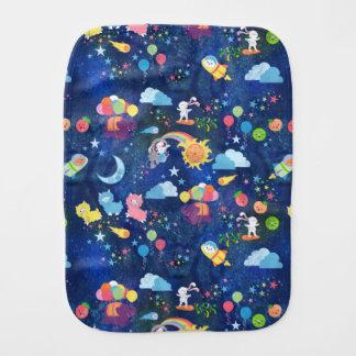 Cosmic Kawaii Baby Burp Cloths