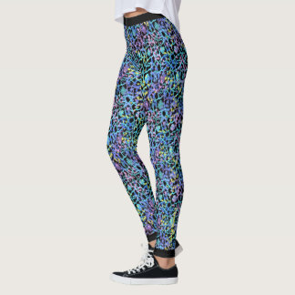 Cosmic Lace Leggings Pastel with Black