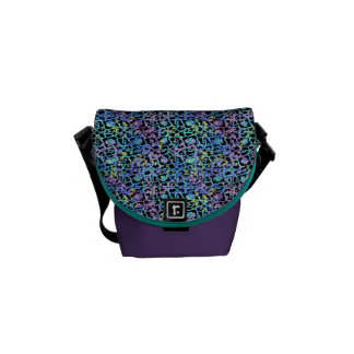 Cosmic Lace Messenger Bag Pastel with Purple
