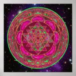 Cosmic Lakshmi Mandala Poster