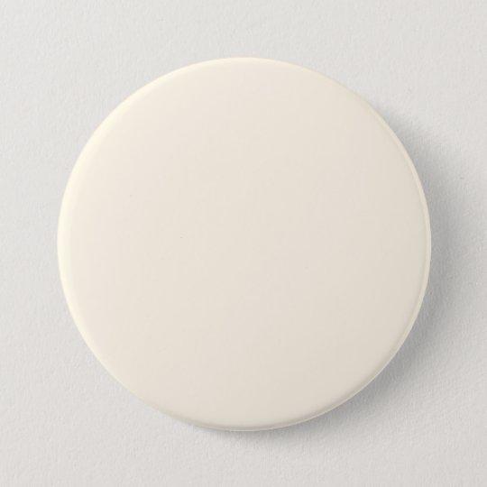 Cosmic Latte Cream Solid Colour 7.5 Cm Round Badge