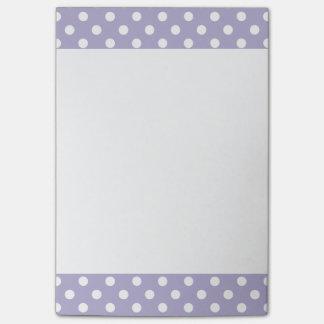 Cosmic lavender/purple polka dots Post-It note pad