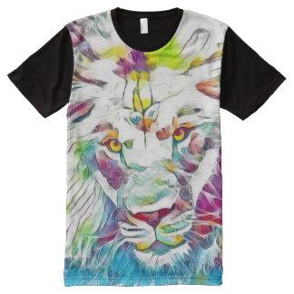 Cosmic Leo Zodiac Sign Fantasy Art All-Over Print T-Shirt