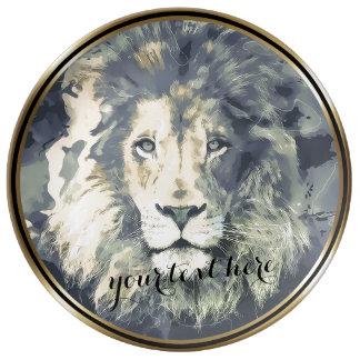 COSMIC LION KING | Custom Decorative Porcelain Pla Porcelain Plate