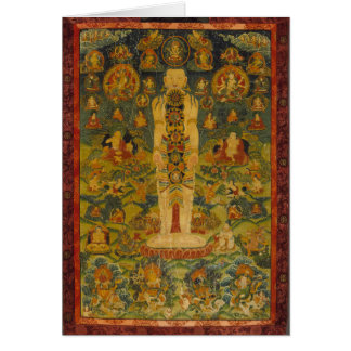 Cosmic Man Tibetan Yoga Thangka Card