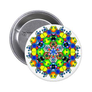 Cosmic Mandala 1 6 Cm Round Badge