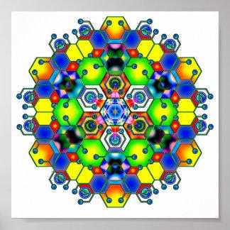 Cosmic Mandala 1 Posters