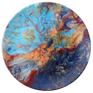 Cosmic marbles plate