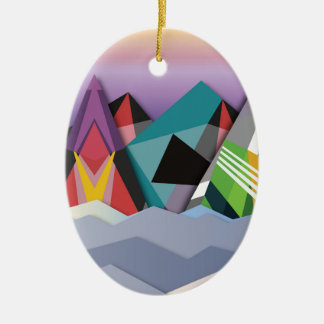 Cosmic Mountains.jpg Christmas Ornament