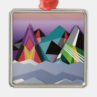 Cosmic Mountains.jpg Christmas Ornament