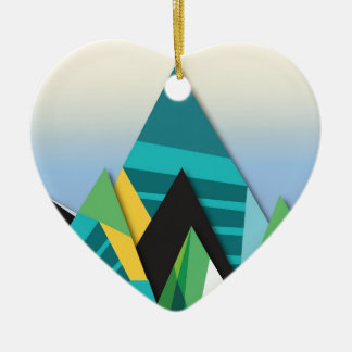 Cosmic Mountains No. 2.jpg Ceramic Heart Decoration