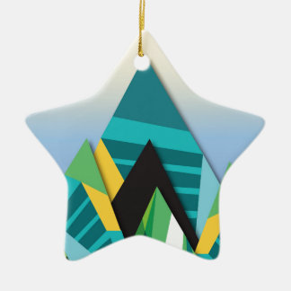 Cosmic Mountains No. 2.jpg Christmas Ornament