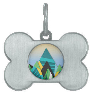 Cosmic Mountains No. 2.jpg Pet ID Tag