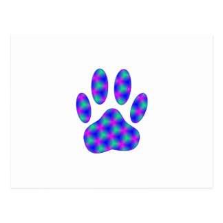 Cosmic Paw Print Post Cards