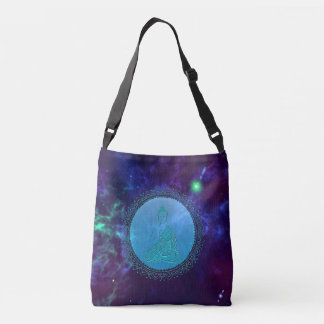 Cosmic Peace Buddha Space Crossbody Bag