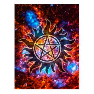 Cosmic Pentagram Postcard