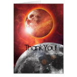 Cosmic Planets Explore Thank You Note Card