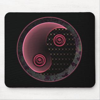 Cosmic Purple Yin Yang Mouse Pad