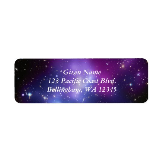 Cosmic Purples Avery Label Return Address Label