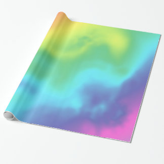 Cosmic Rainbow Abstract Wrapping Wrapping Paper