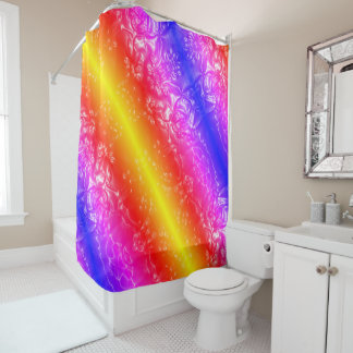 Cosmic Rainbow Shower Curtain