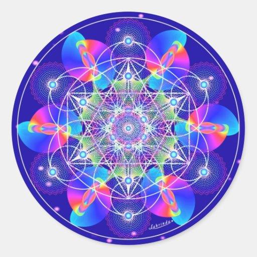 Cosmic Ripples Round Stickers