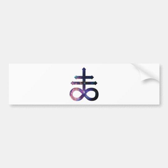 Cosmic Satanic Cross Bumper Sticker