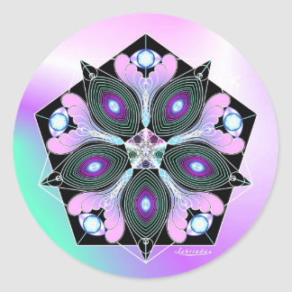 Cosmic Seed Round Sticker