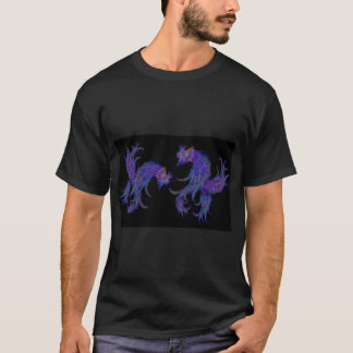 Cosmic Siamese Fighting Fish T-Shirt