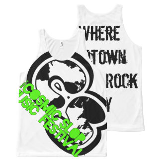 Cosmic Slop Music Festival All-Over-Logo Tank All-Over Print Tank Top
