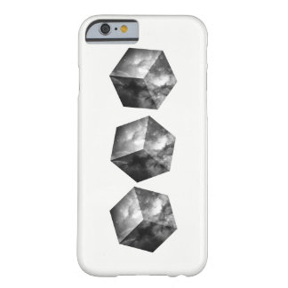 Cosmic Space Cubes - Black and White Barely There iPhone 6 Case