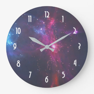Cosmic Space Stars and Nebula Large Clock