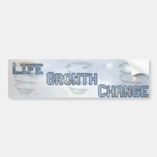 Cosmic Spiral Life Growth Change Car Bumper Sticker