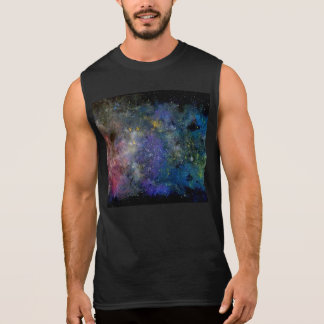 Cosmic starry sky - orion or milky way cosmos sleeveless shirt