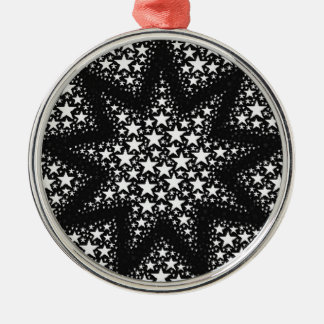 Cosmic stars Silver-Colored round decoration