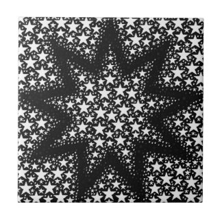 Cosmic stars small square tile