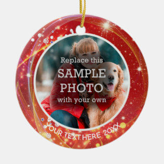Cosmic Stars, Two Photo, Two Sided Christmas Ornament