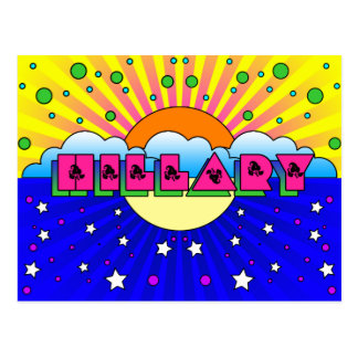 Cosmic Style Hillary Celebration Poster Postcard