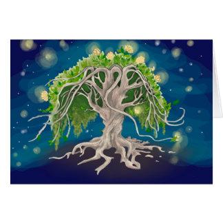 Cosmic Tree Greeting Cards