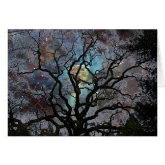 Cosmic Tree - Keyhole Nebula Greeting Card