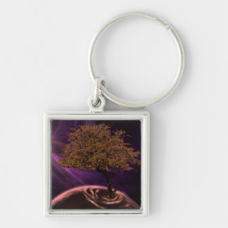 Cosmic Tree of Life For I dipped into the Future, Keychain