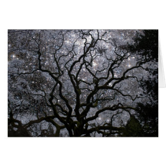 Cosmic Tree - Star Cluster Greeting Card