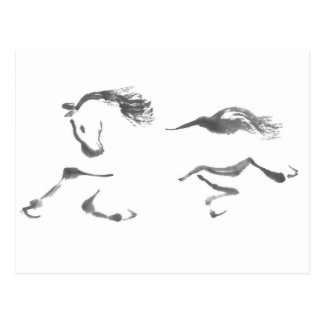 Cosmic Wanderer, Sumi-e Year of the Horse Postcard