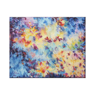 Cosmic Waves Stretched Canvas Print