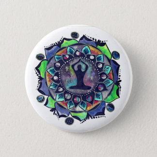 Cosmic Yoga Moon Phases 6 Cm Round Badge